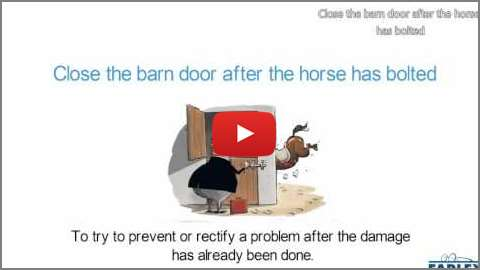 Close The Barn Door After The Horse Has Bolted Idioms By The Free