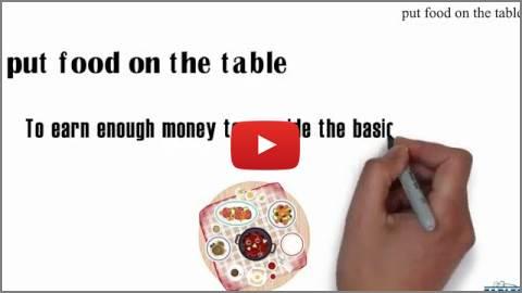 put food on the table